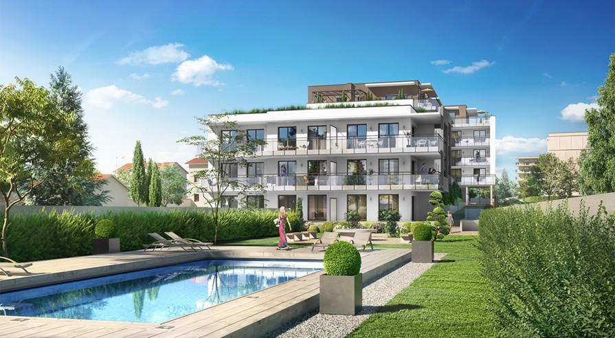Programme immobilier comme une excellence caluire equinox for Caluire piscine
